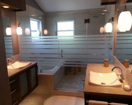 a fully remodeled bathroom in Olathe, KS