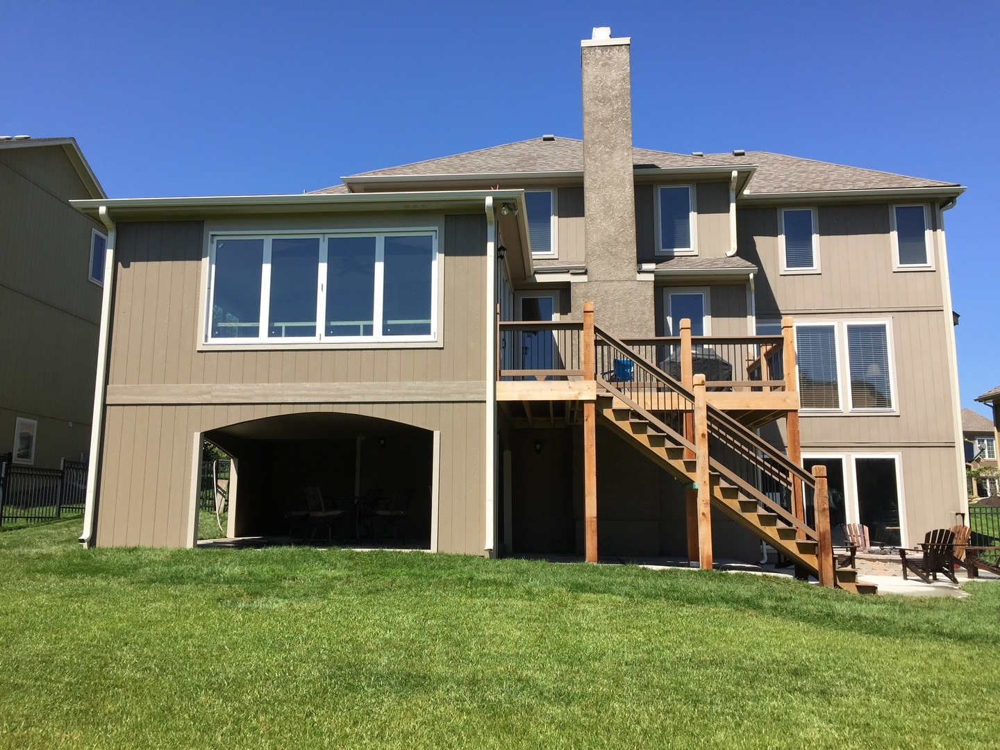 whole home remodeling as shown by a new deck and a fourth garage