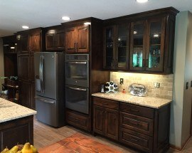 a johnson county kitchen is redone with granite and tile