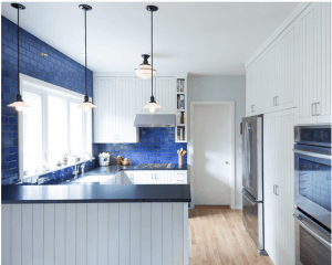 kansas city built by design renovation black fixtures and blue walls